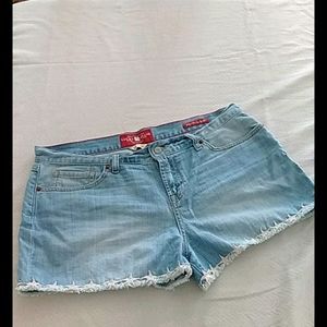 Lucky brand size 10/30  cutoff shorts with stars
